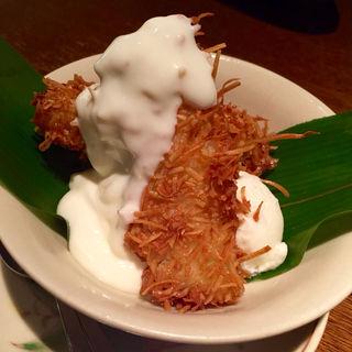 揚バナナ&ココナッツアイス(アジアン  麺茶)