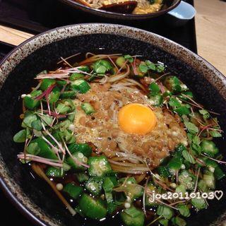オクラと納豆のかけ蕎麦(竹若 上野アトレ店 )