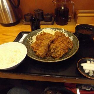 ヒレミックス定食(立呑み とんかつ まるや 新橋店 )