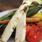 本日の炭火焼き野菜