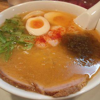 えびそば+味付玉子(麺座まねき )