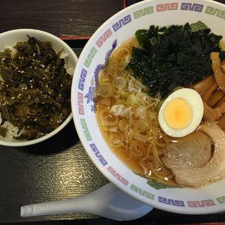 ラーメン&高菜ごはんセット(ゆで太郎 Tokyo‐Bay東雲駅前店 )
