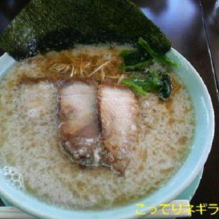こってりネギラーメン (麺者 黒嵐 ・ 本店)