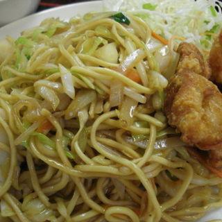 やきそば定食(ごはん・スープ・からあげ付)(會元樓 天満店 (カイゲンロウ))