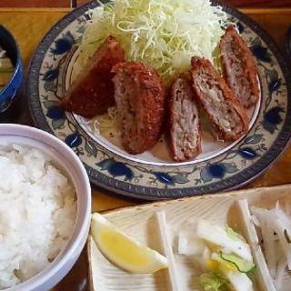 ビーフメンチかつ定食(かつ一 (かついち))