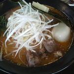 黄金の味噌 ネギラーメン(太麺)+味付たまご+バター