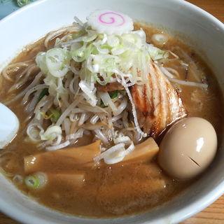 野菜ラーメン(中盛 200g)+味玉(常勝軒 総本店)