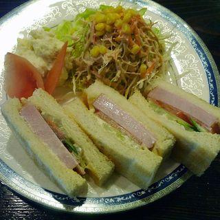 ハムトーストサンセット(コーヒーの種 アラビカ )