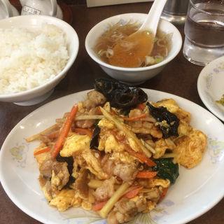 日替わり定食(きくらげ玉子炒め)(鶏舎 (チイシャ))