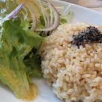 玄米ご飯とサラダ (コースメニュー)