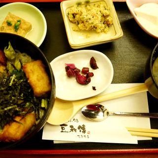 豆腐唐揚げ丼セット(とうふ処 豆雅傳 三条本店)