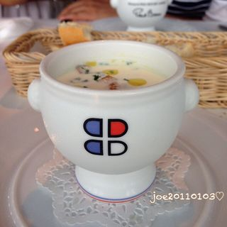 冷製コーンスープ(ブラッスリー ポール・ボキューズ ミュゼ (BRASSERIE PAUL BOCUSE Le Musee))