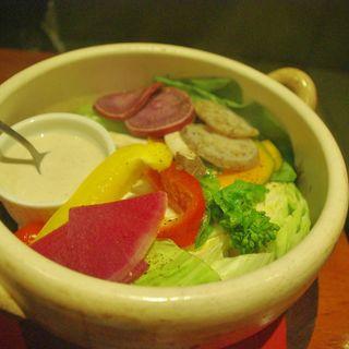たっぷり蒸し温野菜のサラダ アンチョビマヨネーズ(hitokadoru (ヒトカドル))