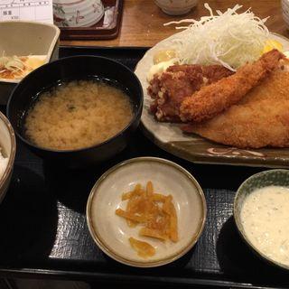 ミックスフライ定食(丸寿 高麗橋店)