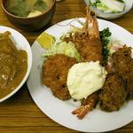 かき・車海老・ホタテのフライ定食