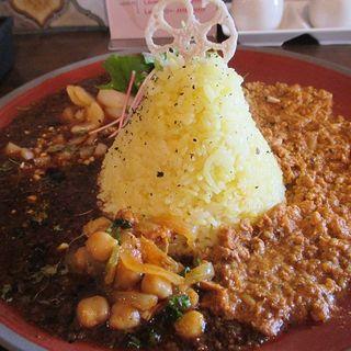 Wキーマカレー(spice&cafe SidMid (スパイスアンドカフェ シドミド))