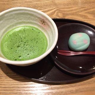 抹茶 和菓子付(京都 つる家 茶房)