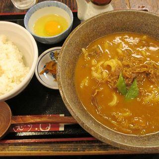 カレーうどん定食(兎麦 (うむぎ))