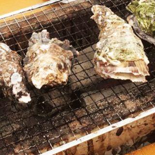 カキ一皿(かき小屋)