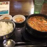 ピリ辛とうふスープ