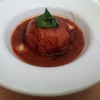 丸ごとトマトのハンバーグ(ベジターラ (Vegeat・a・la))