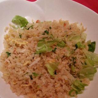 蟹肉とレタスの炒飯(堂島ホテル 中国料理 瑞兆)