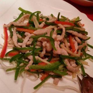 豚肉の細切りとピーマンの炒め(堂島ホテル 中国料理 瑞兆)