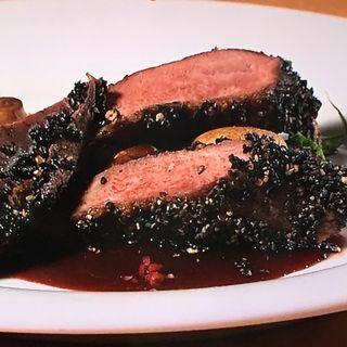 鴨胸肉の黒いロースト 赤ワインソース(満天 (マンテン))