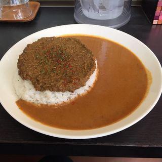 キーマ&プレーンあいがけ(クローバーカレー)