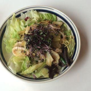 釜揚げしらす・おくら・水菜の和風スパゲッティーニ(MOJA in the HOUSE)