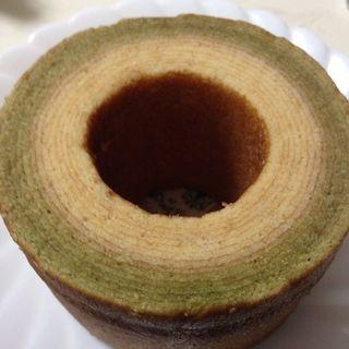 抹茶バニラ(下町バームクーヘン 松坂屋上野店 (乳糖製菓))