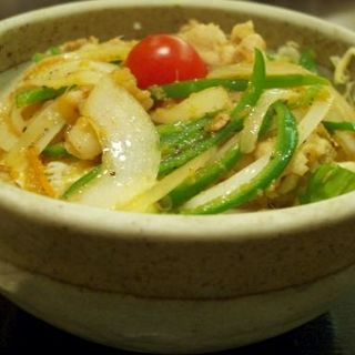 生姜焼き丼定食(東京厨房 虎ノ門三丁目店 (トウキョウチュウボウ))