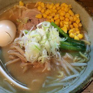 味噌ラーメン+味玉コーン(粋な一生 (いきないっしょう))