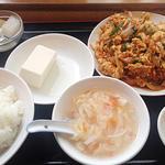 キムチと豚肉 卵炒め定食(中国料理 楽宴 )