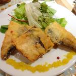 サバのビール衣のサクサクフライ〜香味野菜のビネガーソース
