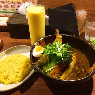 特選チキン野菜カリー(ドリンク・デザートセット)(札幌ドミニカ 銀座店 (DOMINICA))