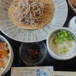 「冷たい蕎麦もしくはうどん・穴子丼セット」(活水軒 )