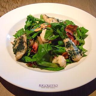 鮮魚の香草焼き・オリエンタルサラダ