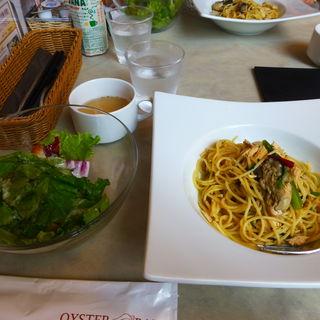 今週の牡蠣パスタセット(シュリンプ&オイスターバー 赤坂サカス店)