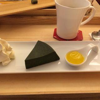 名物 お濃茶フォンダンショコラ 生茶の菓(マールブランシュ カフェ )