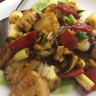四川風豆豉ソースでホタテ炒め(中国料理姜 )