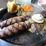 ハンバーグ&炭火焼サイコロステーキ