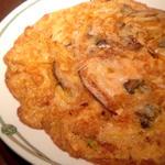 牡蠣の玉子炒め