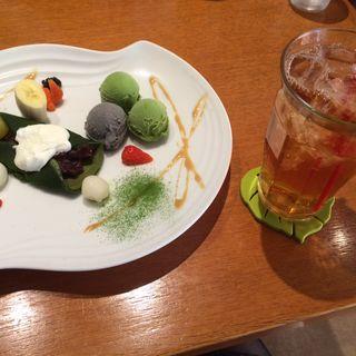 抹茶クレープとアイスクリームセット(テ・コンセプシオン (Te Concepcion))