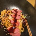 合鴨と白ねぎの甘醤油だれ(醤油のパスタ)(こなな 京都ポルタ店 )