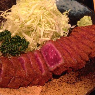 牛カツ麦飯セット(牛かつ もと村 新橋店 )