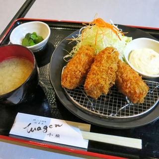 広島産 大粒カキフライ定食(和顔 )