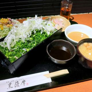 黒豚バラ肉の豚しゃぶネギまみれ(黒薩摩 六本木店 (くろさつま))