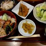きじ丼とソーメンセットランチ(しんば )