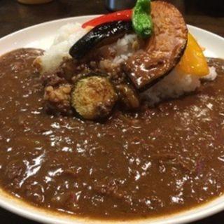 夏野菜のキーマカレー(ハンバーグレストラン葦)